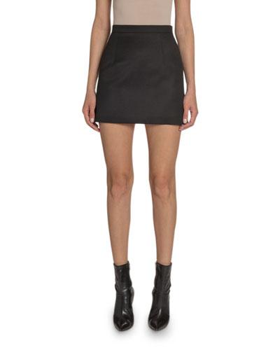 Wool Mini A-Line Skirt