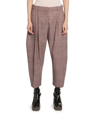 Plaid Cropped Pants