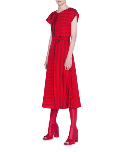 Tonal Kodak-Striped Dress