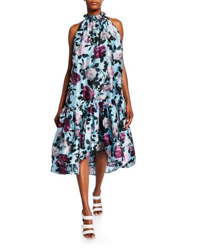 Mariangela Floral Print Silk Voile Dress