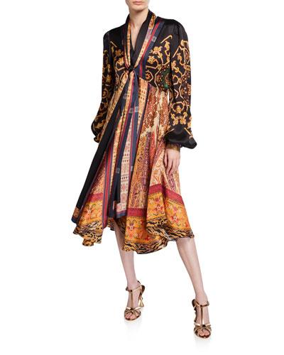 Neo Nomad Hammered Silk Dress