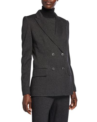 Madison Glen-Check Blazer Jacket