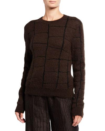 Magenta Intarsia-Knit Sweater