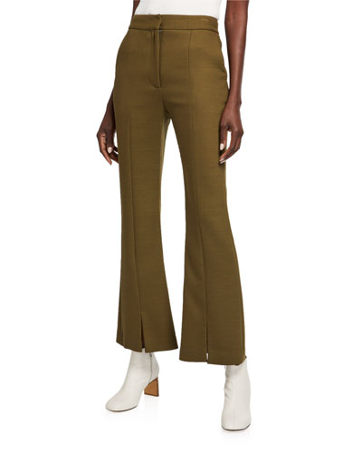Double-Face Wool Crop Pants