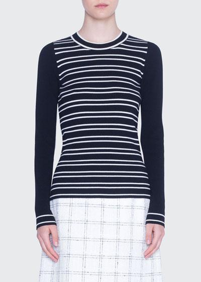 Striped Crewneck Merino Sweater
