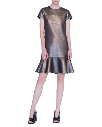 Iridescent Gold Lame Dress