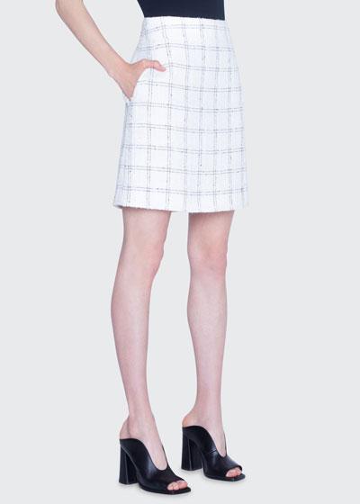 Super Lightweight Tweed A-Line Skirt