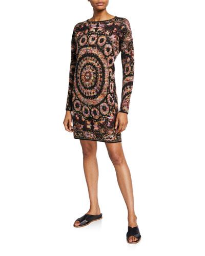 Alanis Geo-Pattern Sweater Dress