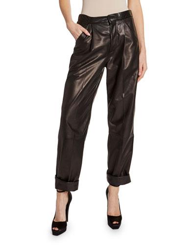 84d31a48b5 Fitted Leather Pants | bergdorfgoodman.com