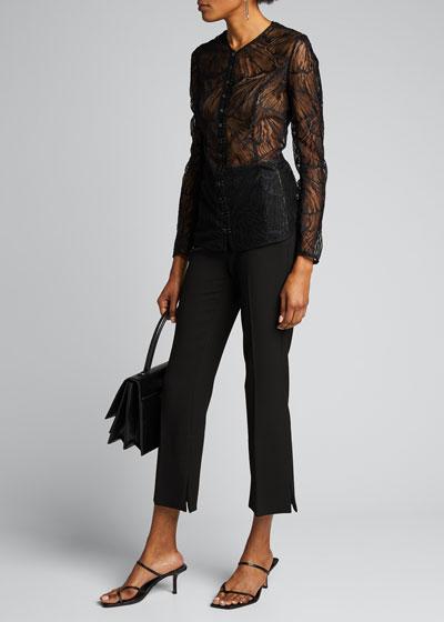 Lace Hook-Front Blouse