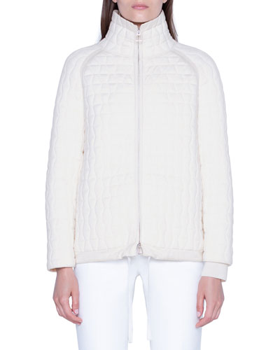 Wool-Silk Quilted Parka Jacket