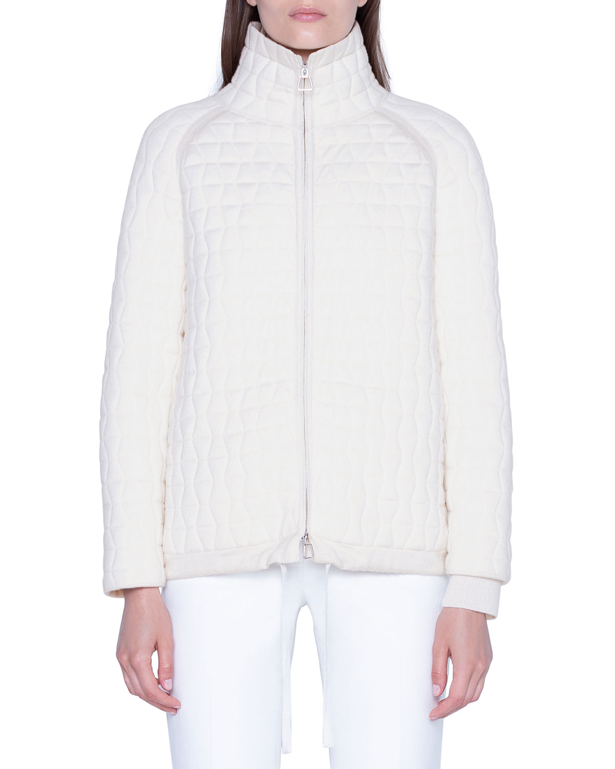 Akris Jackets WOOL-SILK QUILTED PARKA JACKET