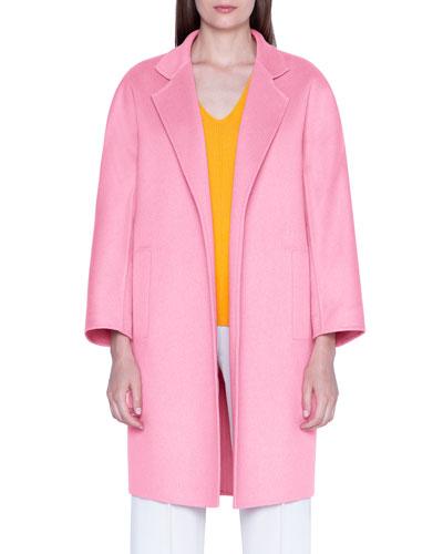 Cashmere Double-Face Open-Front Jacket