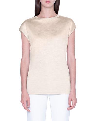 Heathered-Silk Oversized T-Shirt