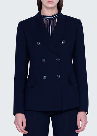 Peak Lapel Six-Button Jacket