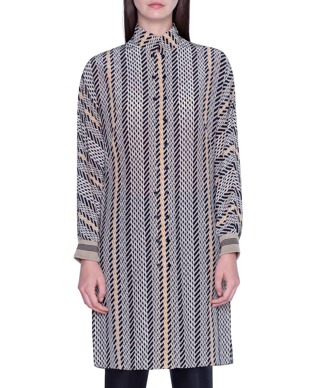 Akris Dresses STRIPED TUNIC DRESS