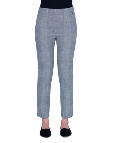 Conny Plaid Double Face Crop Pants