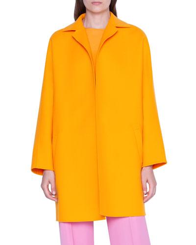 Wool Open-Front Coat