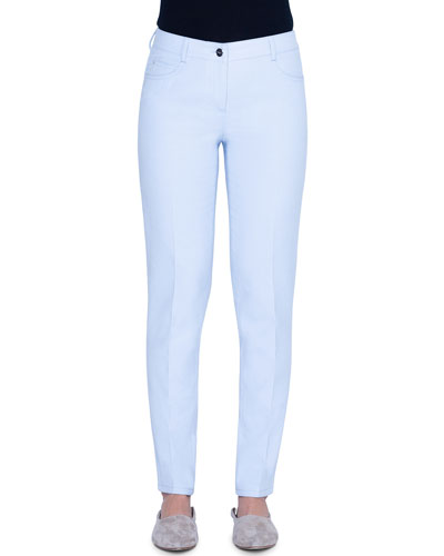 Magda Cotton-Silk Straight-Leg Jeans