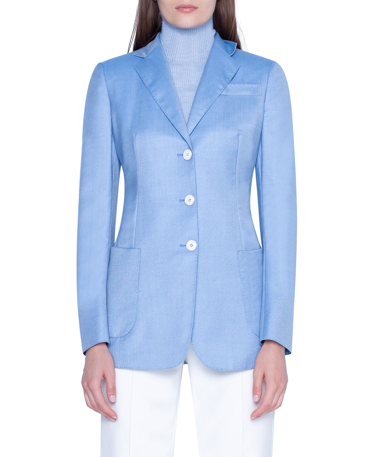 Akris Jackets CASHMERE NOTCHED-COLLAR JACKET