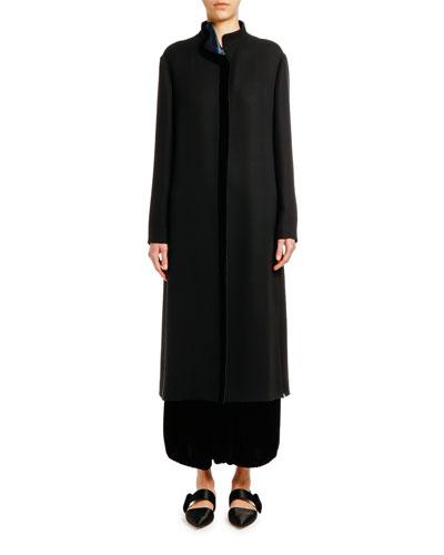 Silk Zip-Front Jacket