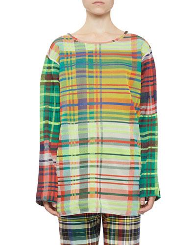 Multicolor Plaid Long-Sleeve Top
