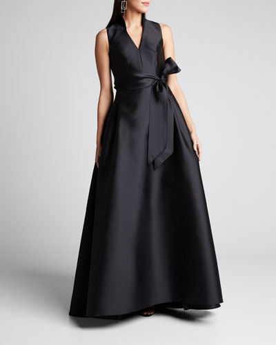 Icon Mikado V-Neck Gown
