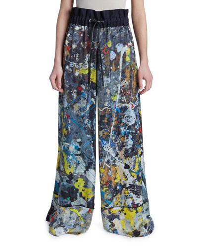 Jackson Pollock Splatter Paint Pants