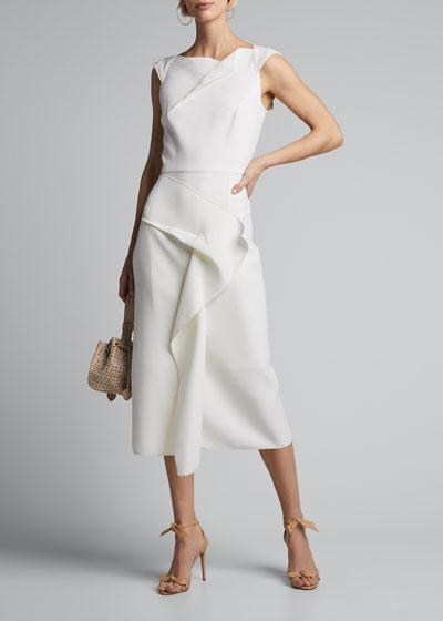 Crepe Asymmetric Dress