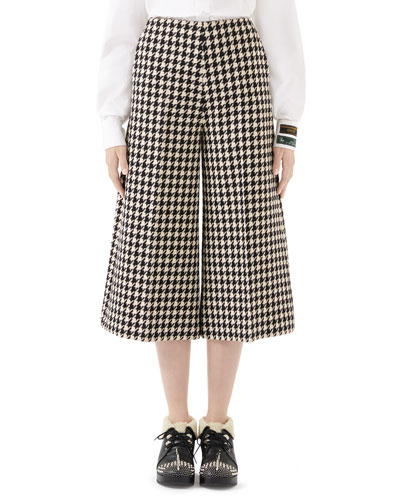 Houndstooth Culotte Pants