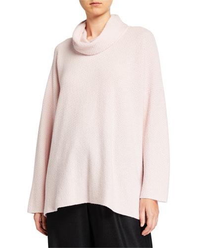 Cashmere Cowl-Neck Sweater