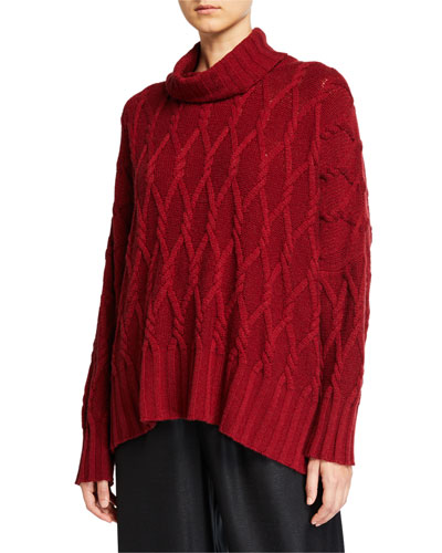 Cashmere Rolled Neck Top