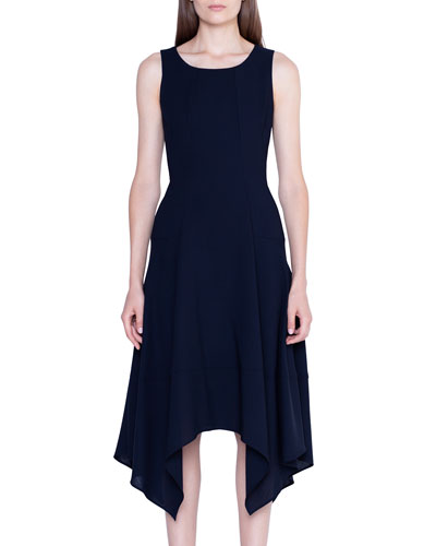 Wool Handkerchief Sleeveless Dress