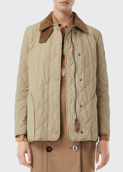 Cotswold Quilted Barn Jacket, Beige