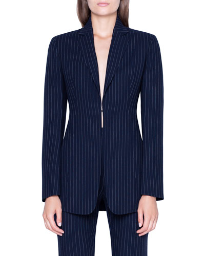 Odette Pinstriped Wool Jacket