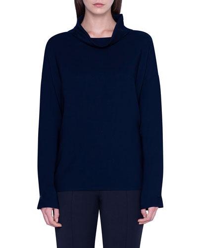 Wool Cowl-Neck Tunic