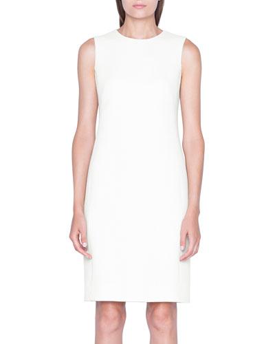 Tweed Sleeveless Shift Dress