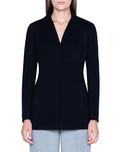 Cashmere Knit Long Blazer Jacket