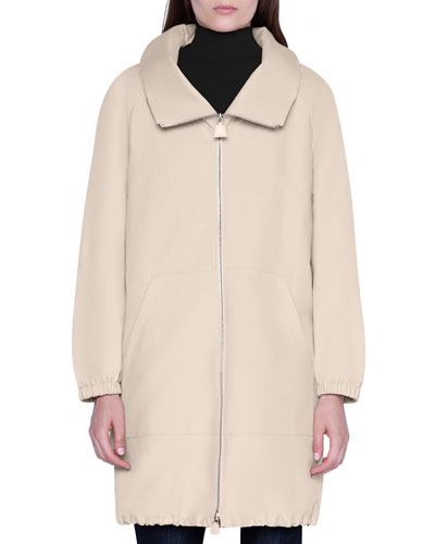 Zip-Front Parka Jacket