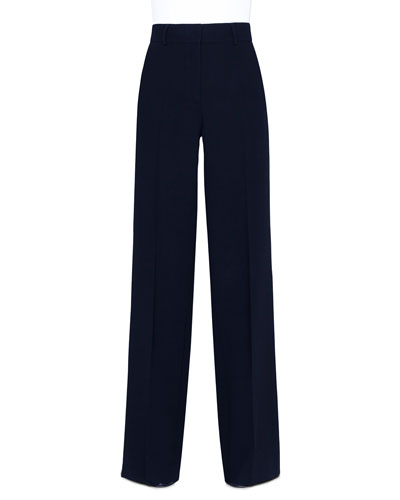 Flore Wool Wide-Leg Pants