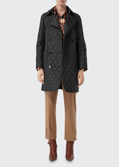Tything Quilted Trench Coat