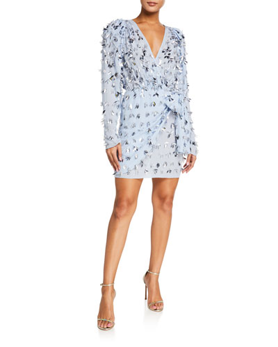 Sequined Fringed Mini Dress