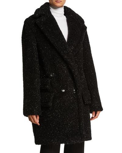 Metallic Specked Teddy Coat