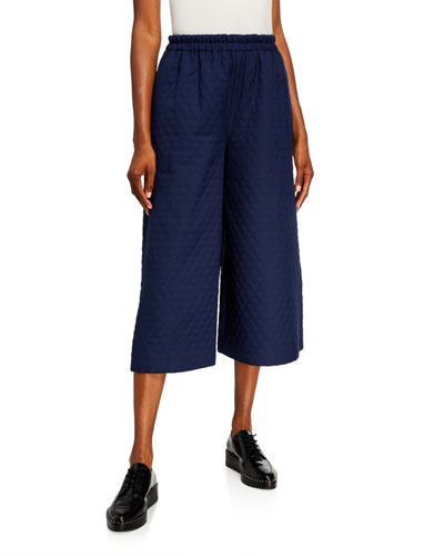 Quilted Culotte Pants
