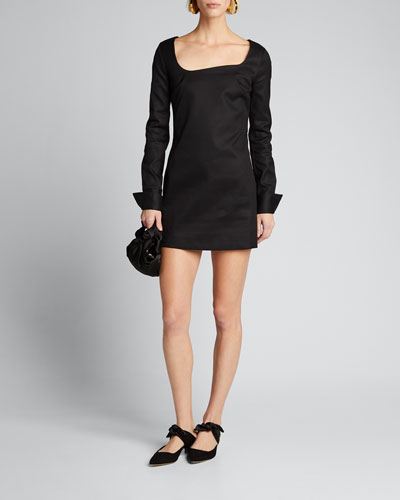 Fitted Tailored Cotton Dress