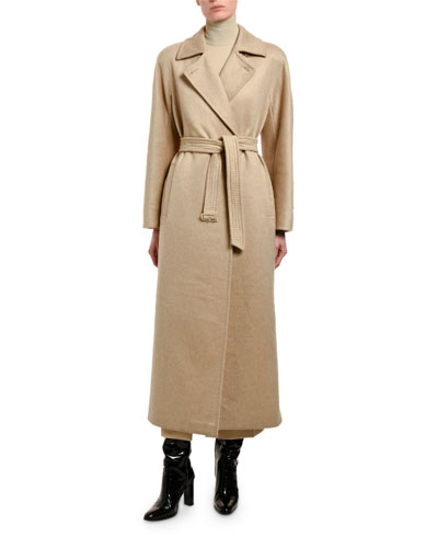 Jago Cashmere-Wool Wrapped Coat