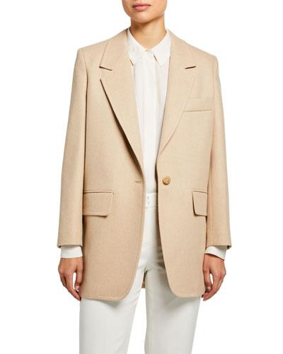 Edipo Camel Wool-Cashmere Jacket
