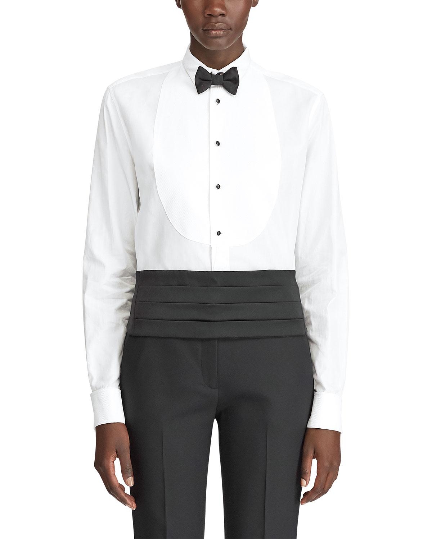 Ralph Lauren Shirts MARLIE BIBBED TUXEDO SHIRT