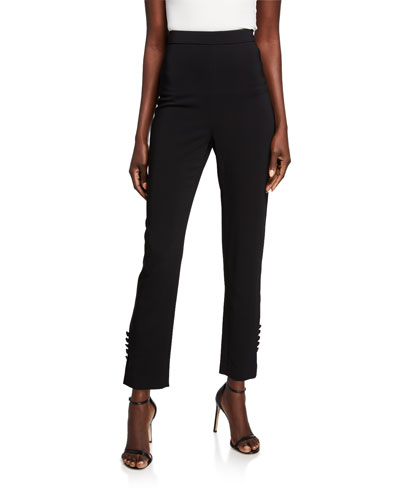 High-Rise Cady Cropped Pants