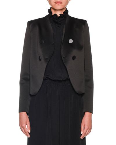 Bonded Satin Jersey Short Jacket